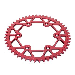 Self cleaning motorcycle rear sprocket for Honda