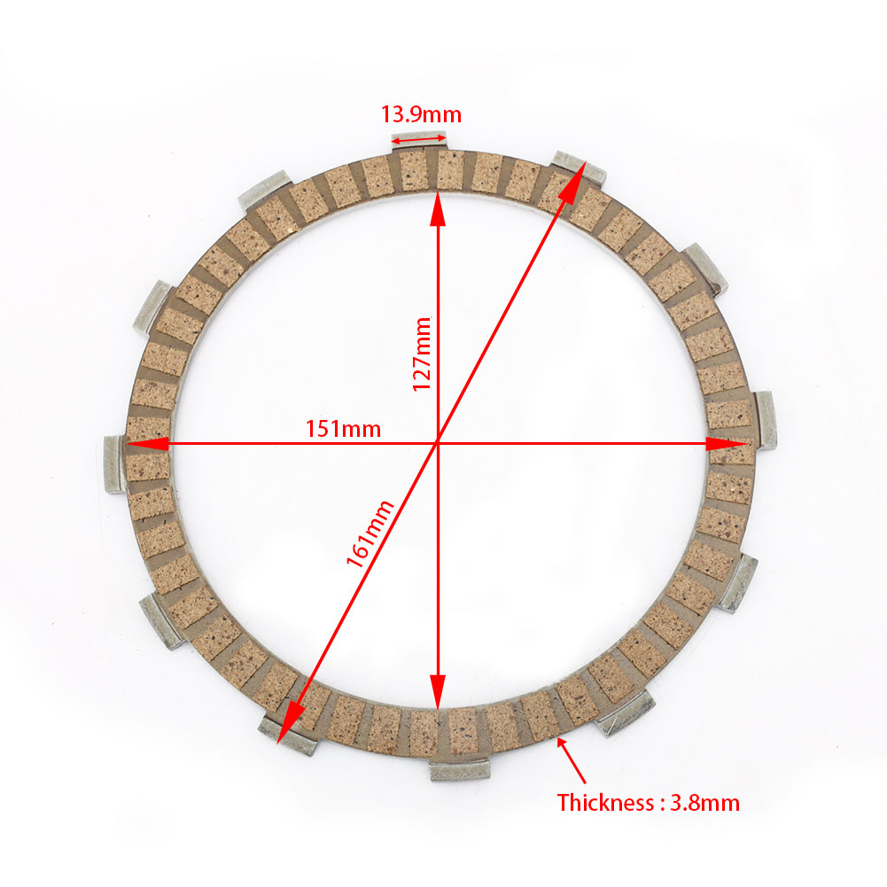 High Quality Street Bike Paper Based Motorcycle Clutch Plate for YAMAHA