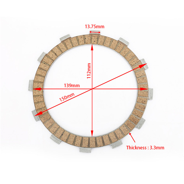 High Quality Wholesale Paper Based Material Motorcycle Clutch Friction Plate for SUZUKI