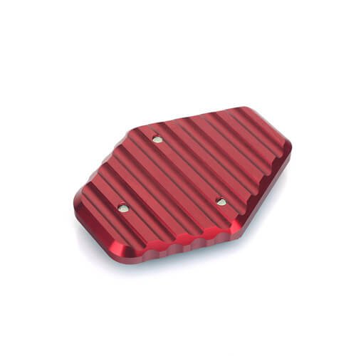 CNC Billet Anodized Aluminum Motorcycle Kickstand Pad