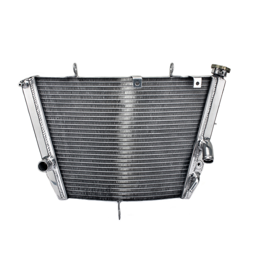 Full Aluminum Polished Custom Motorcycle Radiator
