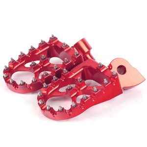 Aluminum motorcycle foot pegs for dirt bike