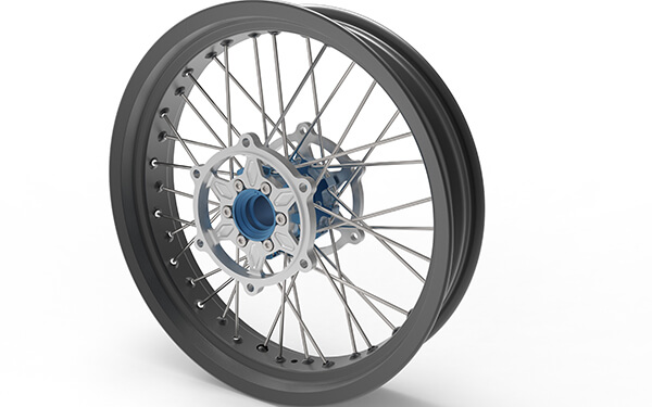 Custom 17 Inch motocross wheels for cafe racer